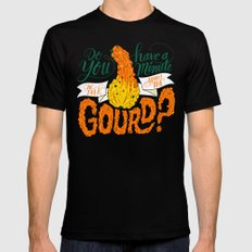 A Minute for the Gourd Black MEDIUM Mens Fitted Tee