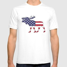 "Moose ""American Flag"" T-shirt"