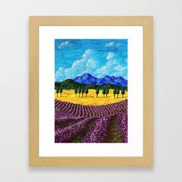 Lavender In Provence Framed Art Print