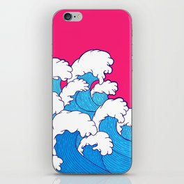 As the waves roll in iPhone Skin