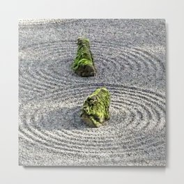 Japanese Stone and Sand Garden Metal Print