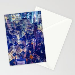 Colorful New York City Skyline Stationery Cards