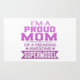 I'M A PROUD SUPERMODEL'S MOM Rug