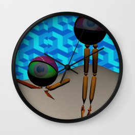 Two Eyes on an Island Wall Clock