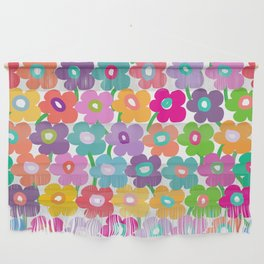 Hippy Dippy Happy Flowrs Wall Hanging
