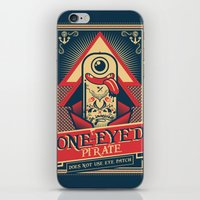 pirate iPhone & iPod Skins featuring One-eyed Pirate by Victor Beuren