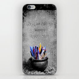 The Grave of Douglas Adams iPhone Skin