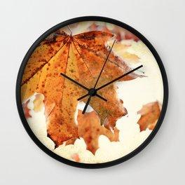 Sugar Coated Maples, Nostalgic fall home decor Wall Clock