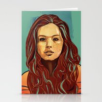 daria Stationery Cards featuring Daria Sidorchuk by Jakub Cichecki
