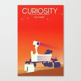 Curiosity Rover on mars. Canvas Print