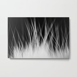 White Static Metal Print