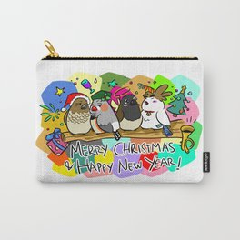 Merry Christmas Finches Carry-All Pouch