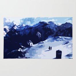 Tardis Art At The Snow Mountain Rug