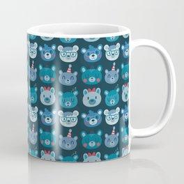 Cute Bear Faces Pattern Coffee Mug