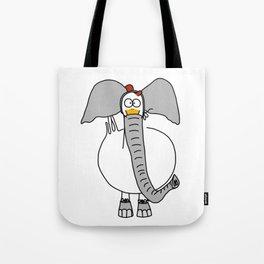 Eglantine la Poule (the hen) dressed up as an elephant Tote Bag