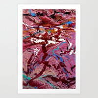 Red to Blue Swirl Art Print