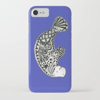 manatee iPhone & iPod Cases featuring Manatee by Casey Virata