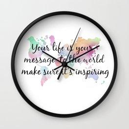 Be inspiring Wall Clock