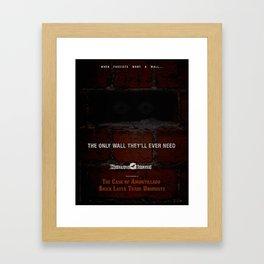 Nevermore Builders: Cask of Amontillado Trump-Wall Advert Framed Art Print