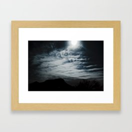 To the Mountain by Midnight Framed Art Print