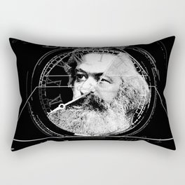 The Time of Marx Dark Rectangular Pillow