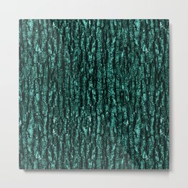 Emerald Tree Bark Metal Print
