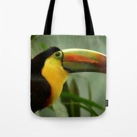 toucan Tote Bags featuring Toucan... by Nature In Art...