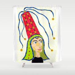15th Century Hennin Shower Curtain