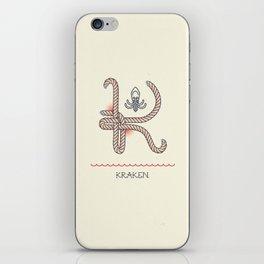 Ahoy! Letter K iPhone Skin