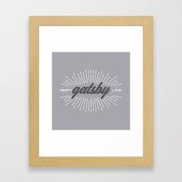 Party Like Gatsby Framed Art Print