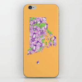 Rhode Island in Flowers iPhone Skin