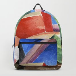 Thomas Hart Benton Cubist Landscape Backpack
