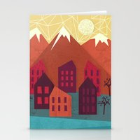 mountains Stationery Cards featuring Mountains by Kakel