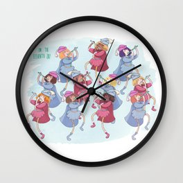 11th Day of Christmas Wall Clock