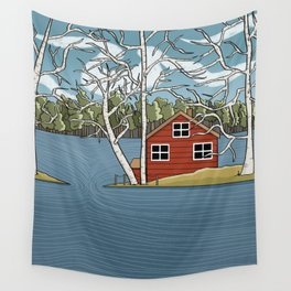 Lake House Wall Tapestry