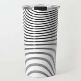 Organic Abstract 02 WHITE Travel Mug