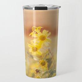 Future So Bright - Yellow Wildflowers Travel Mug