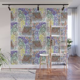 Mr Squiggly Planting Peas Wall Mural