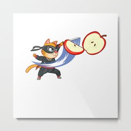 ninja cat furniture Design by diegoramonart Metal Print