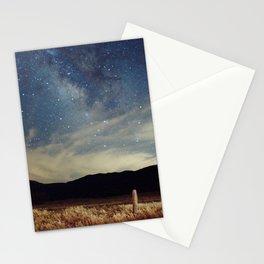 Night sky over Prairie Stationery Cards