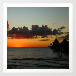 Naples Pier Sunset Art Print