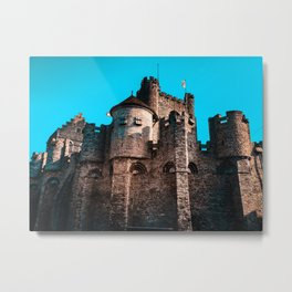 Gravensteen Ghent Castle Metal Print