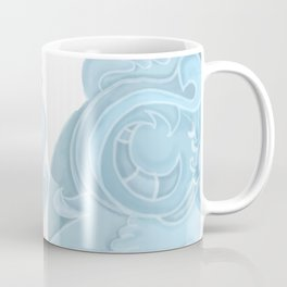 Blue Rosemaling letter O Coffee Mug