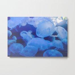 Jellyfish Land - Blue Heaven Metal Print