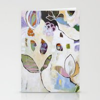 "flora bowley Stationery Cards featuring ""Letting Go"" Original Painting by Flora Bowley by Flora Bowley"