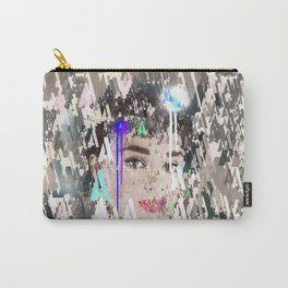 Audrey Type Abstract Art Carry-All Pouch
