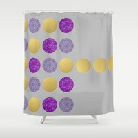 dot Shower Curtains featuring Dot, Dot, Dot by Sandra Arduini