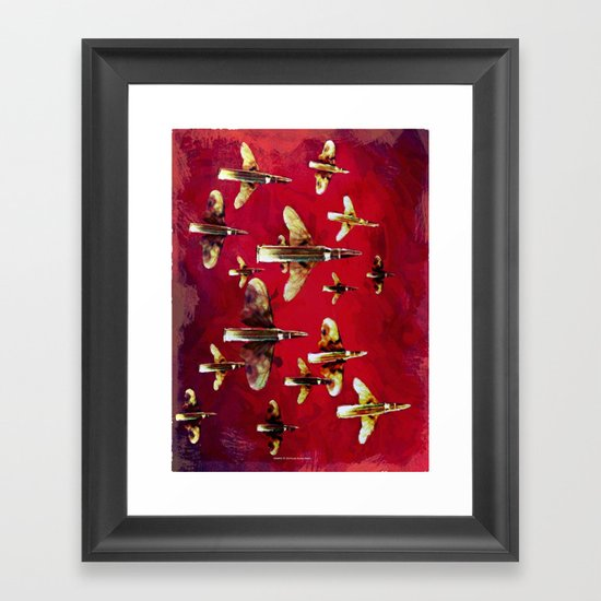 SWARM 128 Framed Art Print