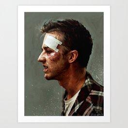 Portrait Of The Narrator - I'd Fight Gandhi Art Print