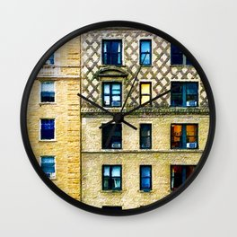 New York City Apartment Building Wall Clock